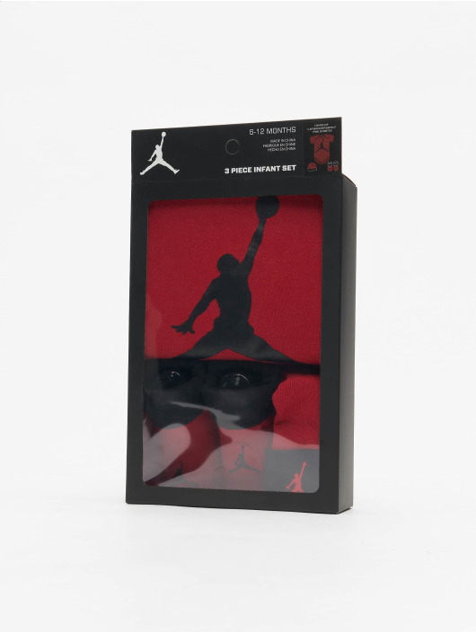 Jordan Body Jumpman Hat/Bodysuit/Bootie 3 Pieces èervená
