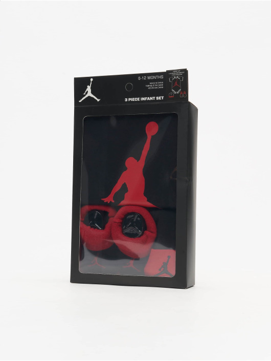 Jordan Body Jumpman Hat/Bodysuit/Bootie 3 Pieces black