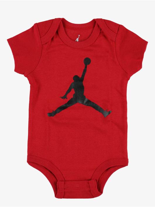 Jordan Body Jumpman Hat/Bodysuit/Bootie 3 Pieces czerwony