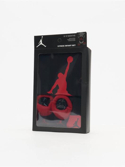 Jordan Body Jumpman Hat/Bodysuit/Bootie 3 Pieces musta