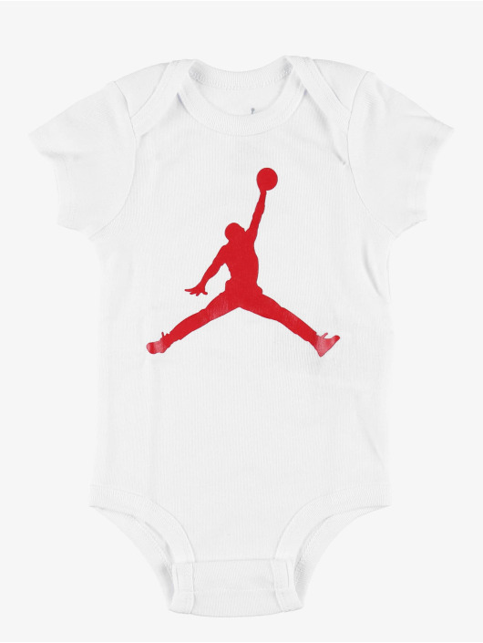 Jordan Body Jumpman Hat/Bodysuit/Bootie Set 3 Pieces rot