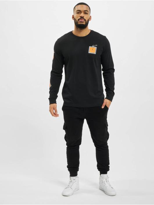 Jordan Camiseta de manga larga Keychain negro
