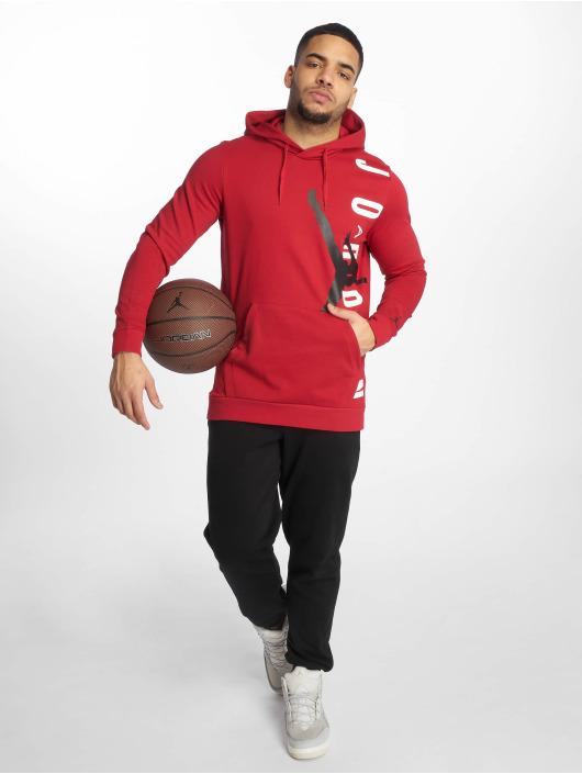 Jordan Hoodie Jumpman Air Lightweight red