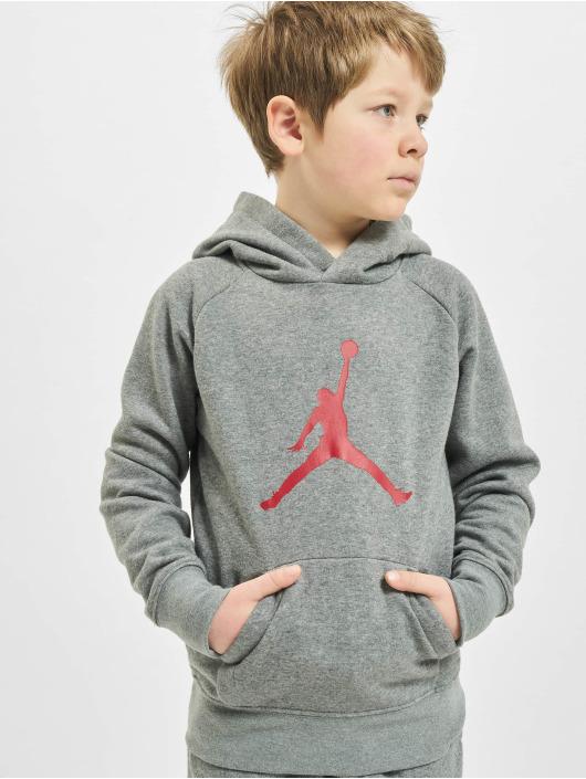 Jordan Hoody Jumpman Logo grau