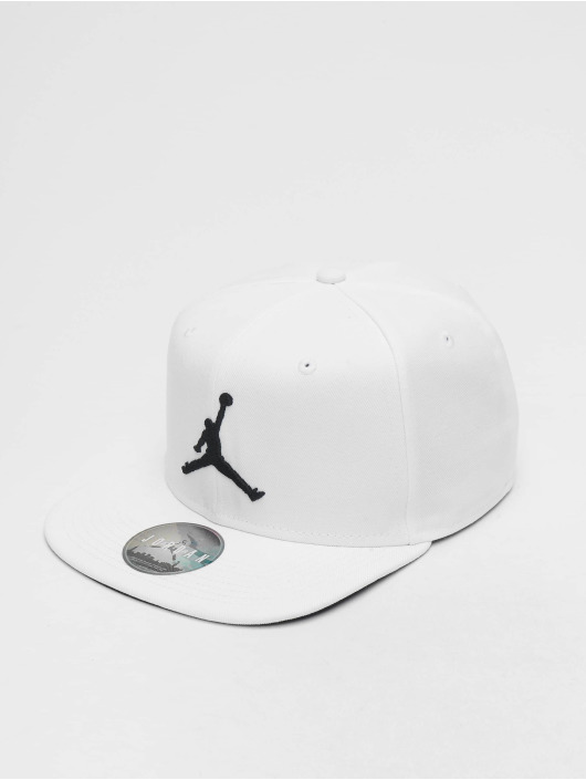 Jordan Snapback Caps Pro Jumpman bialy