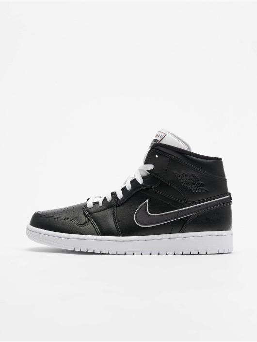 Air Jordan 1 Mid SE Sneakers BlackBlackWhite