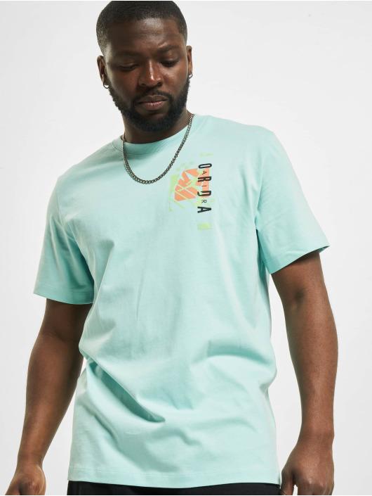 Jordan T-Shirt M J JAir Futura SS Crew bleu