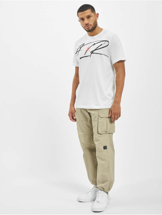 Jordan T-Shirt Script Air Defect Crew white