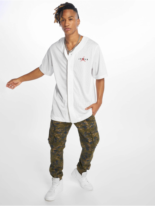Jordan T-Shirty Air Mesh bialy