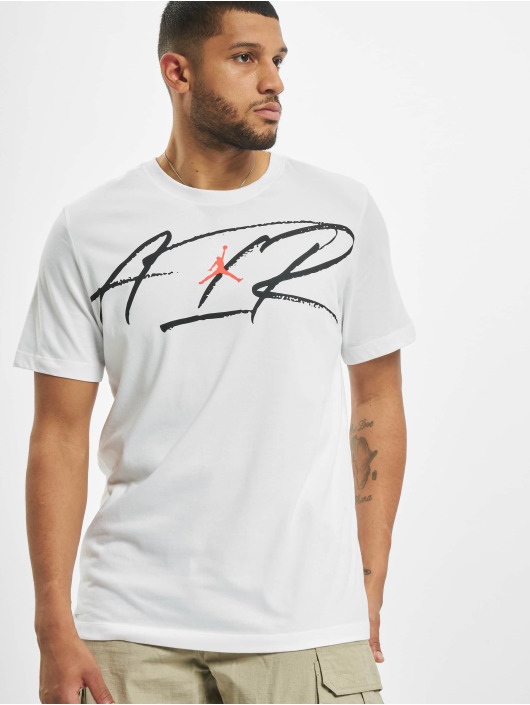 Jordan T-Shirty Script Air Defect Crew bialy