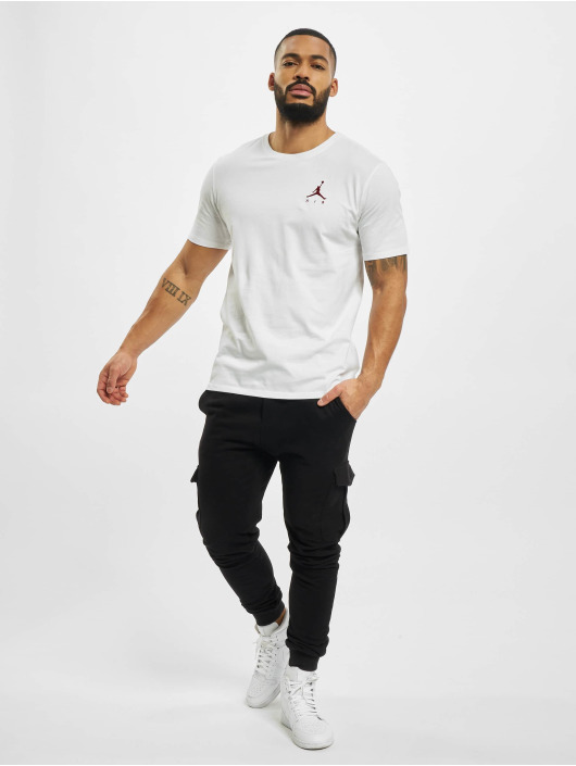 Jordan T-Shirty Jumpman Air Embrd bialy