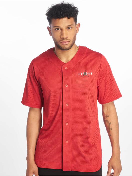 Jordan T-Shirty Jumpman Air Mesh Jersey Gym czerwony