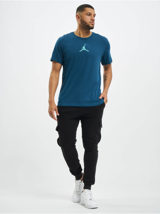 Jordan T-Shirty Jumpman Defect Crew niebieski