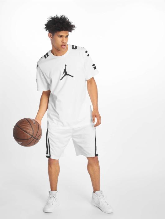 Jordan T-skjorter 23 Stretch hvit