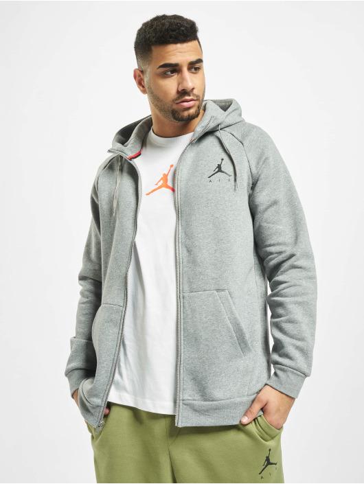 Jordan Jumpman Fleece Full Zip Sweatshirt Carbon HeatherBlack