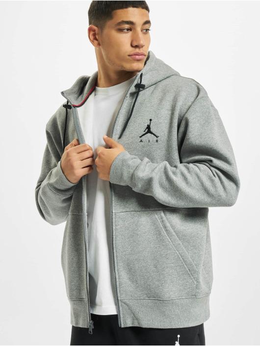 Jordan Zip Hoodie Air Fleece Full Zip grey