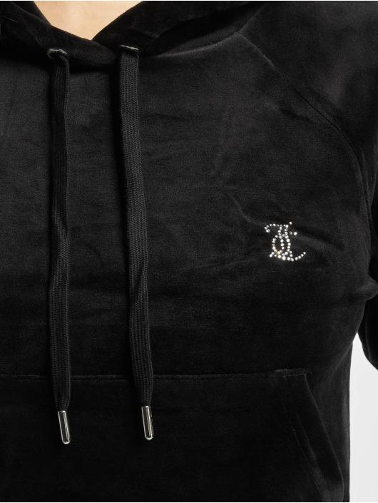Juicy Couture Bluzy z kapturem Sally czarny