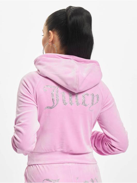 Juicy Couture Bluzy z kapturem Sally pink