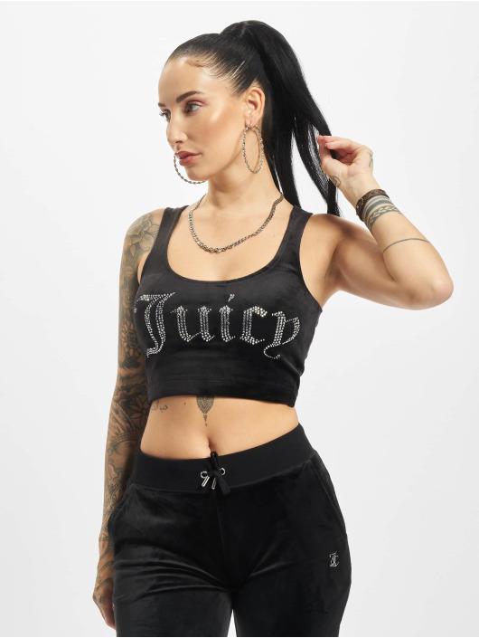 Juicy Couture Hihattomat paidat Jade Crop musta