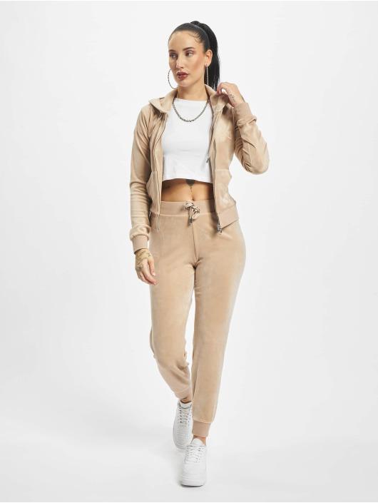 Juicy Couture Sweat capuche zippé Robertson Class beige