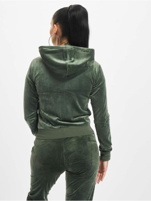 Juicy Couture Sweat capuche zippé Robertson Class vert