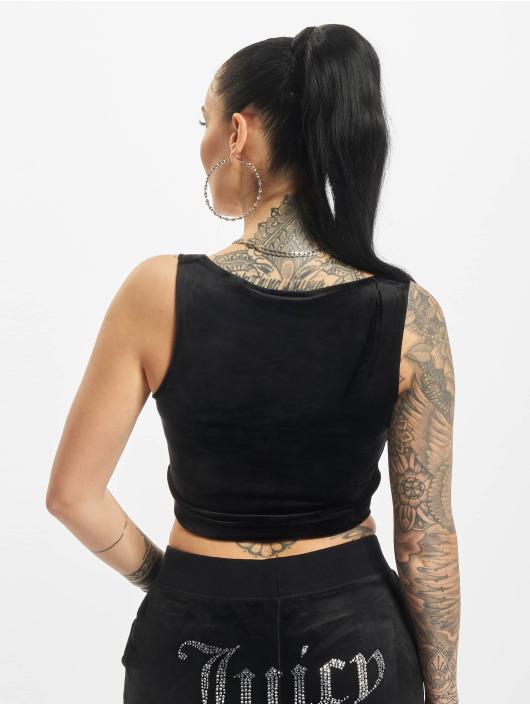Juicy Couture Top Jade Crop black