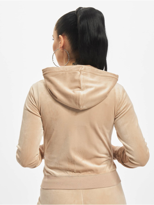 Juicy Couture Zip Hoodie Robertson Class béžová