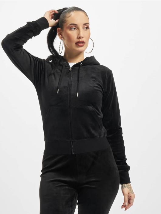 Juicy Couture Zip Hoodie Robertson Class czarny