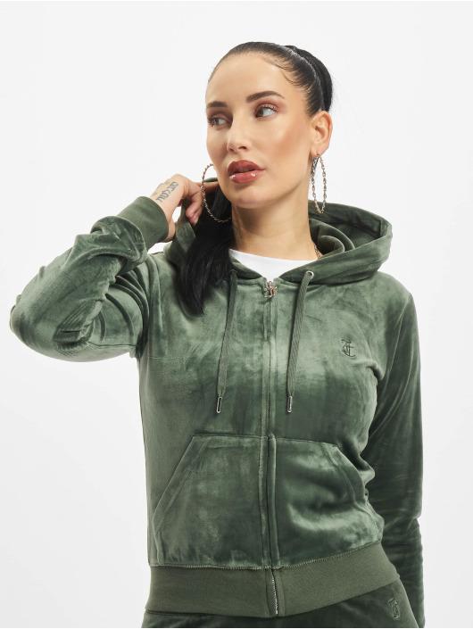 Juicy Couture Zip Hoodie Robertson Class green
