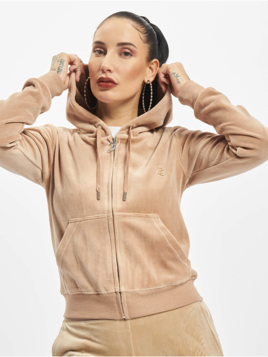 Juicy Couture Zip Hoodie Robertson hnedá