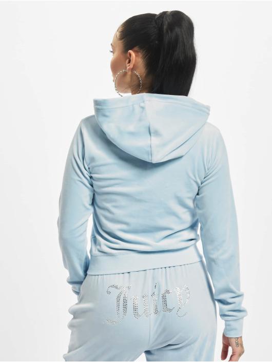 Juicy Couture Zip Hoodie Robertson Class modrá