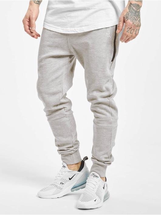 Just Rhyse Big Pocket Tech Sweatpants Light Grey Melange