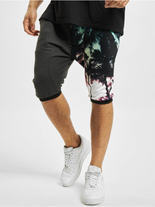 Just Rhyse Shorts Palmen schwarz