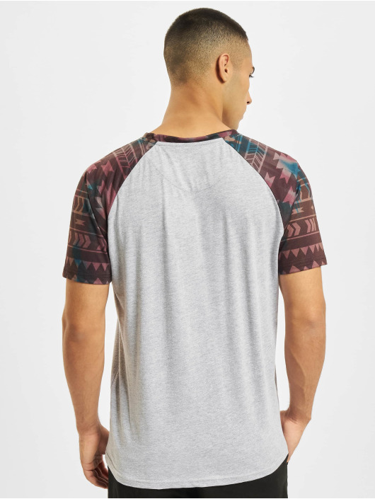 Just Rhyse T-Shirt Pocosol Raglan grau