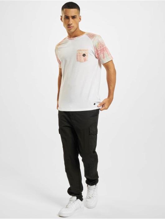 Just Rhyse T-Shirt Pocosol Raglan weiß