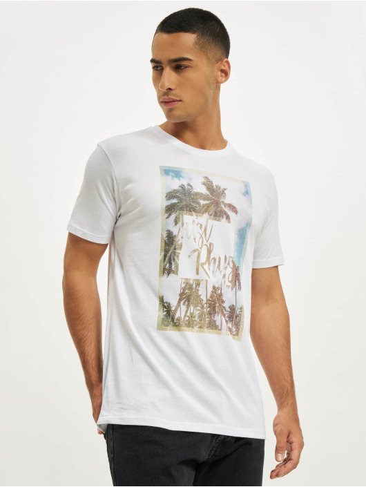 Just Rhyse T-Shirty Palmeira bialy