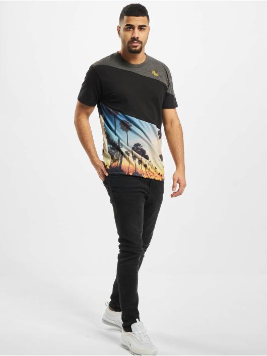 Just Rhyse T-Shirty Monte Ruivo czarny