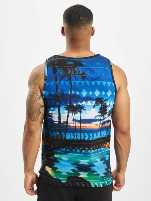 Just Rhyse Tank Top Palm Coast blå