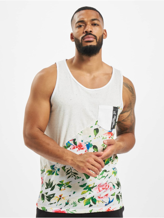 Just Rhyse Tank Tops Floral weiß