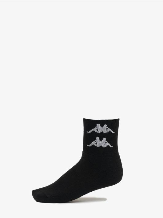 Kappa Socken Evan Quarter 3er Pack schwarz