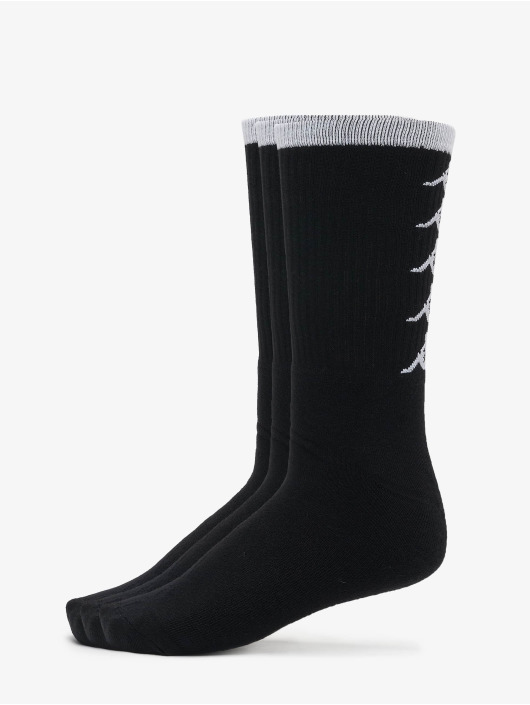 Kappa Socken EVAN Quarter 3-Pack schwarz