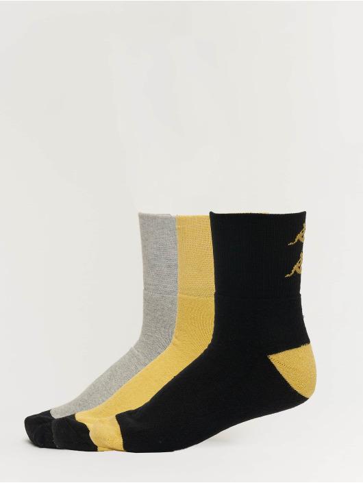 Kappa Sokken Etimo Quarter 3er Pack geel