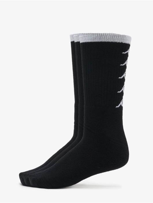 Kappa Sokken EVAN Quarter 3-Pack zwart