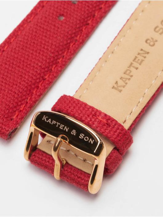 Kapten & Son Armband Canvas Strap rot