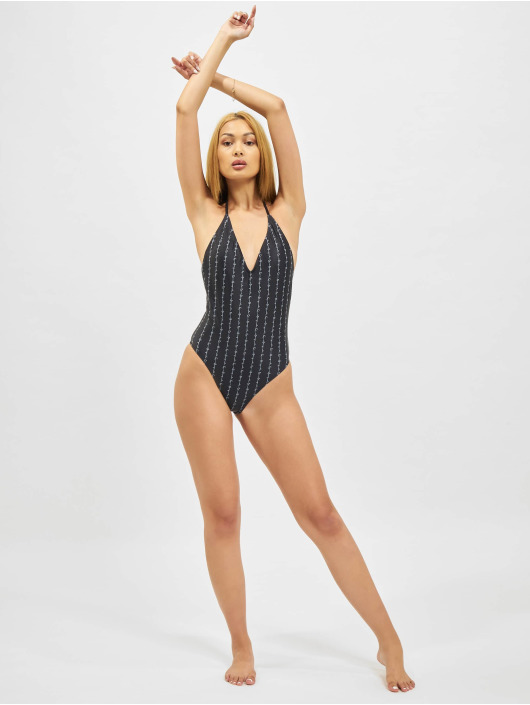 Karl Kani Bathing Suit Originals Deep Neck black
