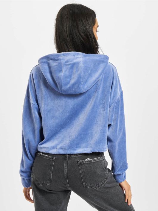 Karl Kani Bluzy z kapturem Signature Crop Nicki niebieski
