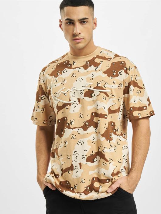 Karl Kani Camiseta Signature Camo beis