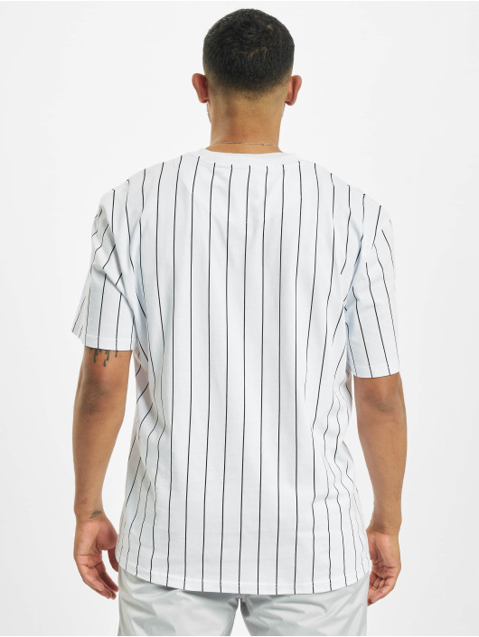 Karl Kani Camiseta Small Signature Pinstripe blanco