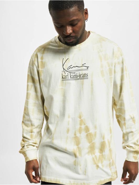 Karl Kani Camiseta de manga larga Signature Kkj Tie Dye blanco