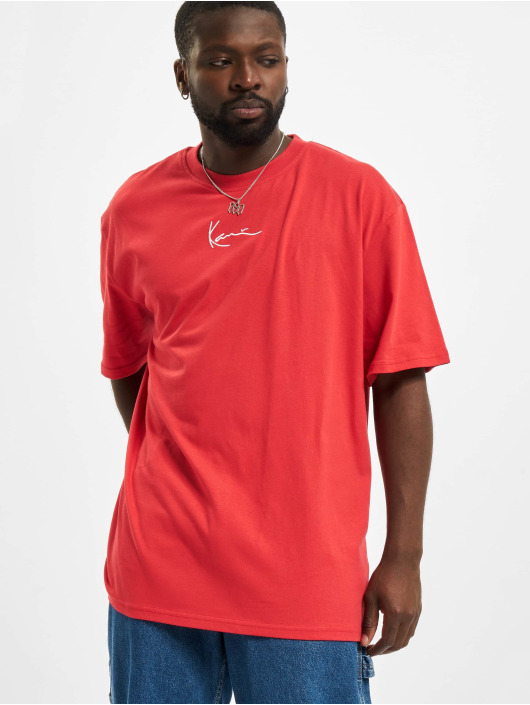 Karl Kani Camiseta Small Signatur rojo